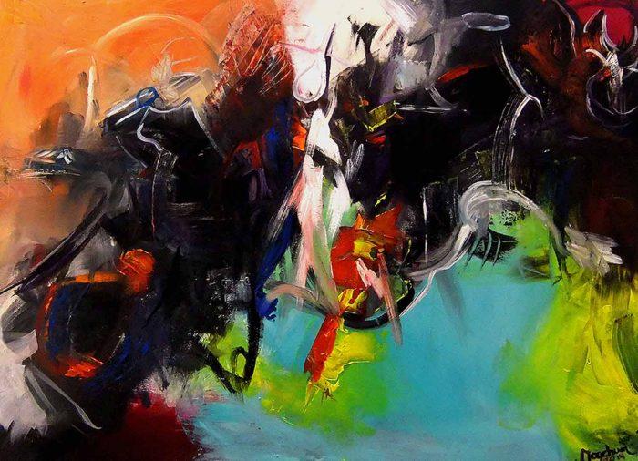 Jogchumskunst - Jogchum Veenstra kunst - Colliding Cows 2014 nieuw