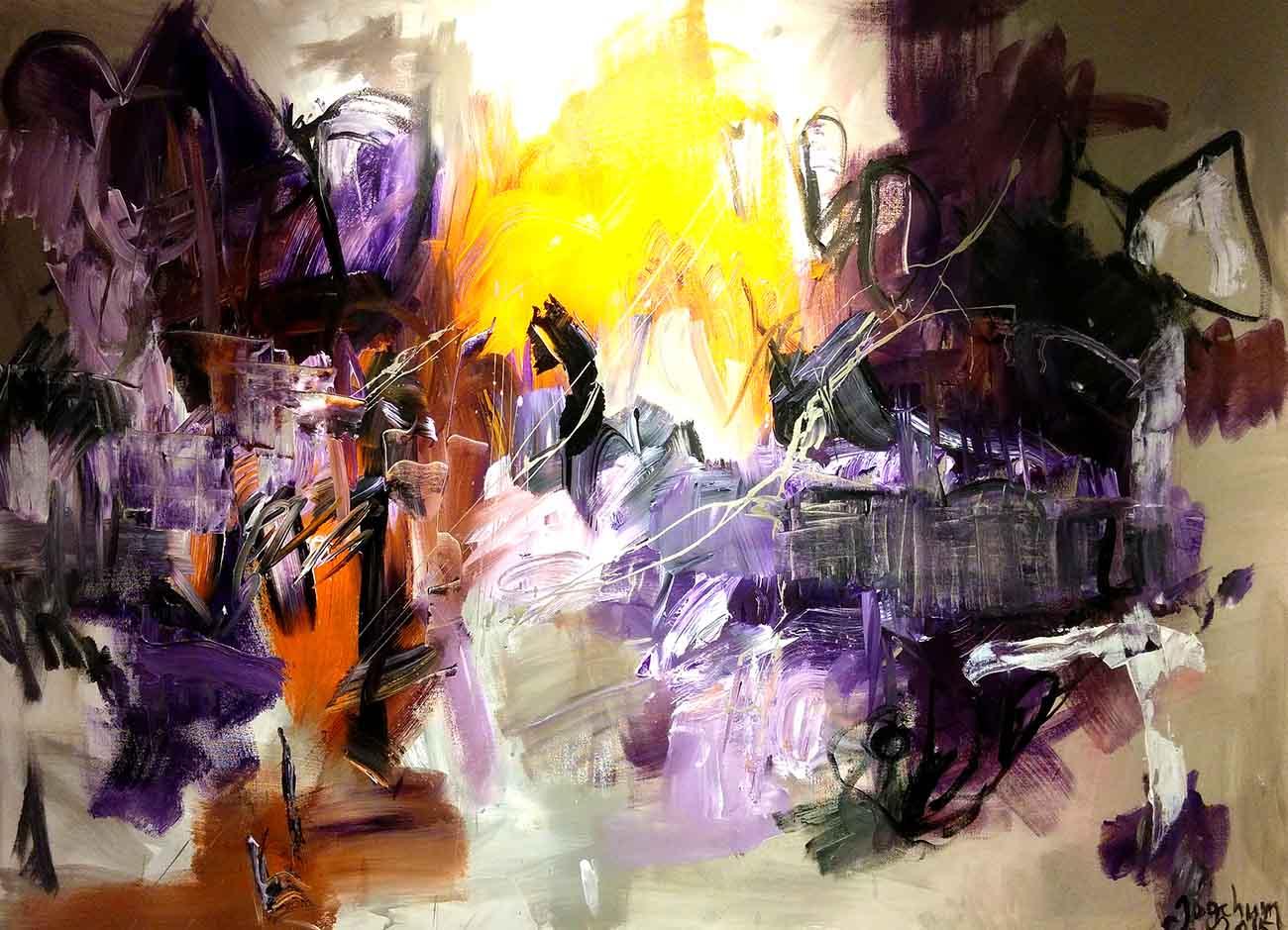 Jogchumskunst - Jogchum Veenstra kunst - Purple Land 2015