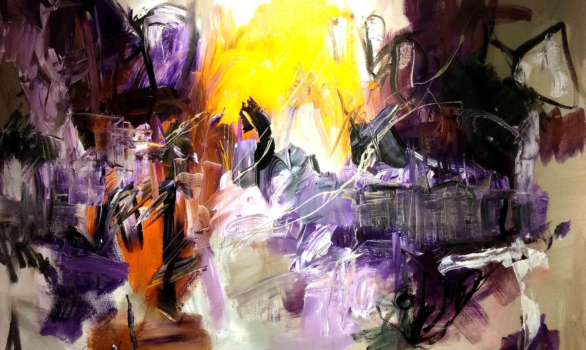 Jogchum Veenstra - Jogchumskunst - schilderij Purple Land hoofdfoto