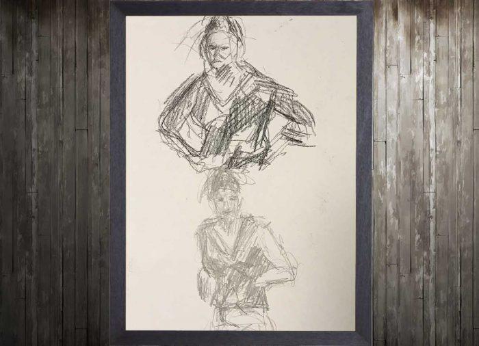 Jogchumskunst - Jogchum Veenstra Kunst - Potlood tekening vlugge schets 1