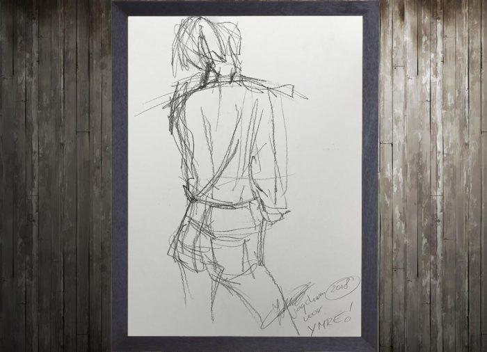 Jogchumskunst - Jogchum Veenstra Kunst - Potlood tekening vlugge schets 2
