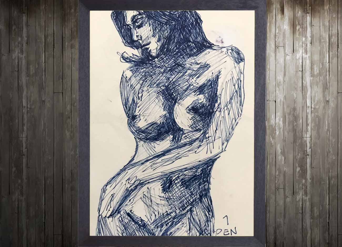 Jogchumskunst - Jogchum Veenstra Kunst - stift tekening vrouw (3)
