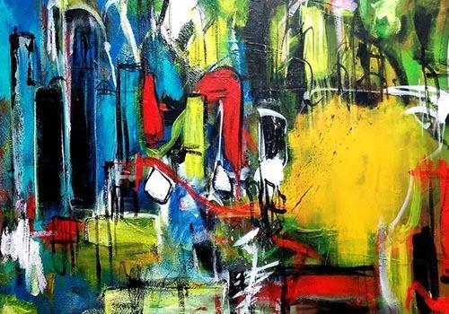 Jogchumskunst - Jogchum Veenstra collectie - abstracte kunst
