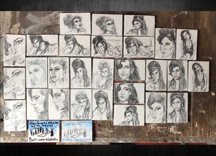 Jogchumskunst - Jogchum Veenstra kunstwerken - Realisme - Amy Winehouse
