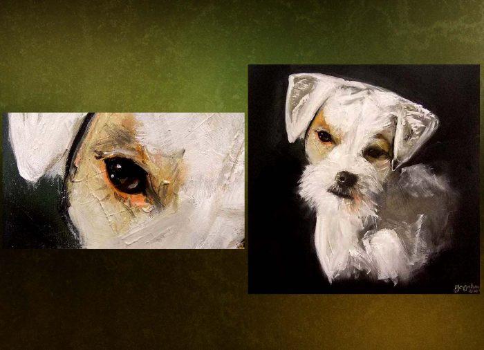 Jogchumskunst - Jogchum Veenstra kunstwerken - Realisme - Dog