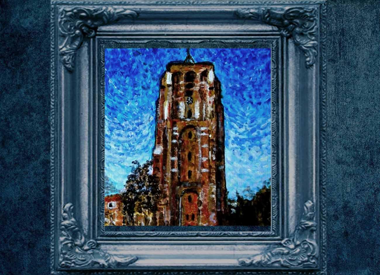 Jogchumskunst - Jogchum Veenstra kunstwerken - Realisme - Oldehove - van Gogh oefening 2