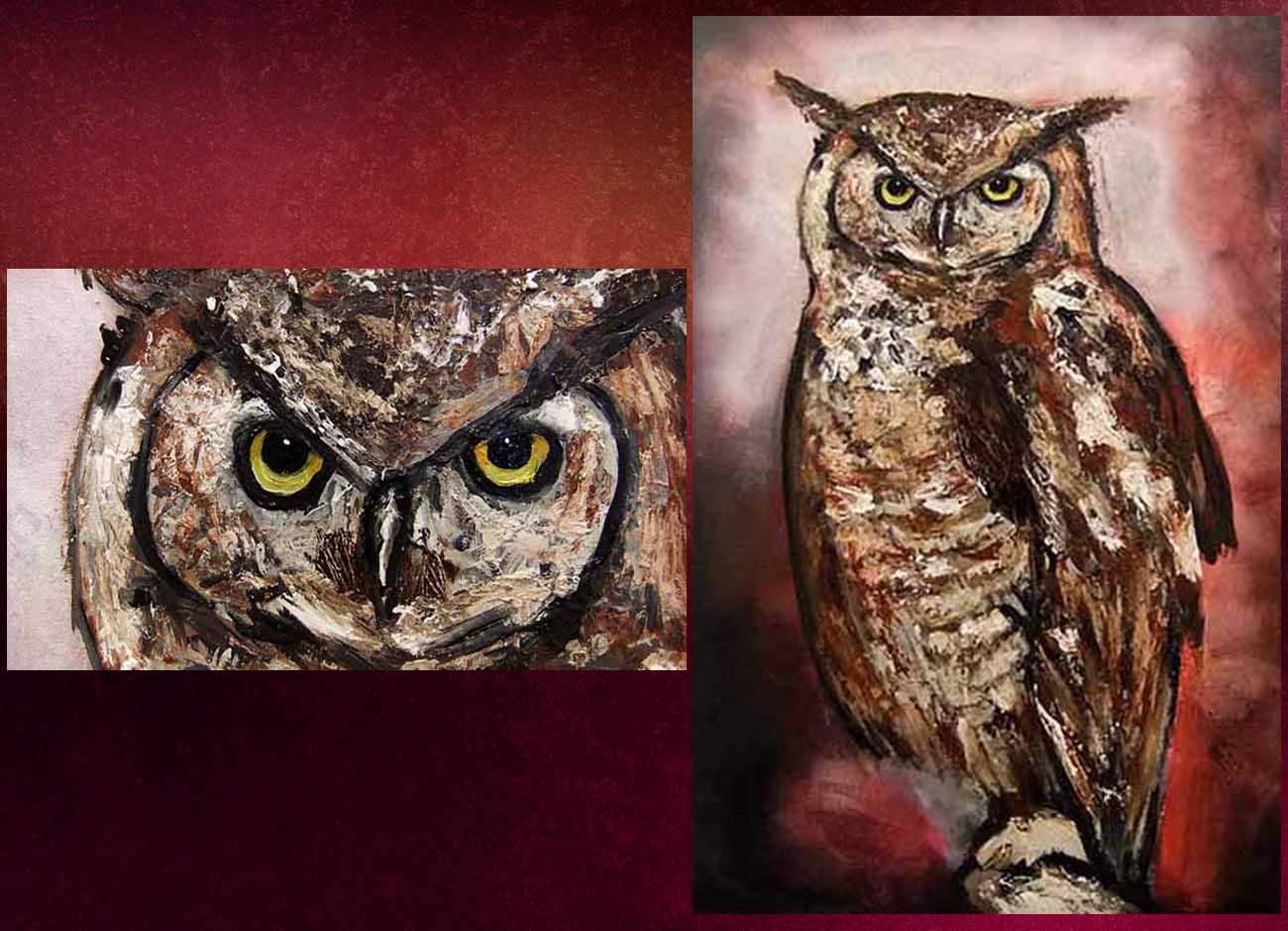 Jogchumskunst - Jogchum Veenstra kunstwerken - Realisme - Owl
