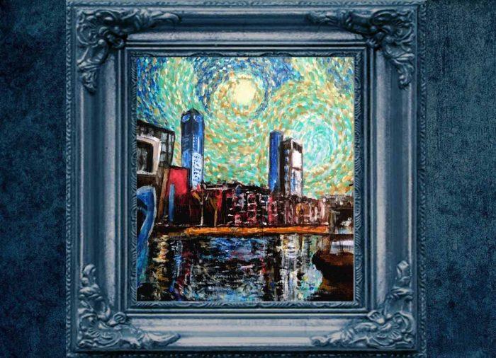 Jogchumskunst - Jogchum Veenstra kunstwerken - Realisme - Westerkade-van Gogh oefening 1